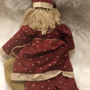 "Holiday - Primitive Handmade Santa 10""x16""!"